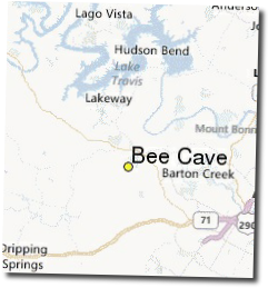 bee cave map