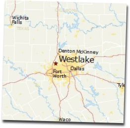 west lake texas map
