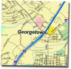 georgetown texas map