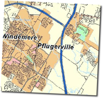 pflugerville map