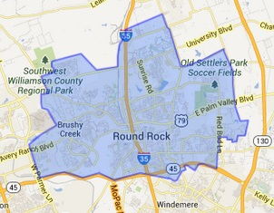 round rock texas map